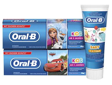 Дитячі зубні пасти ТМ Oral-B, в асортименті