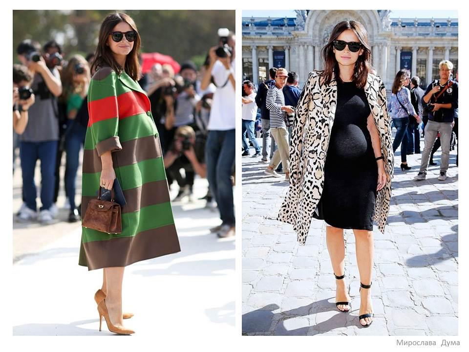 52efe5fc9fa7fb ... одяг. Найкращий варіант з точки зору практичності – це пальто вільного  крою. Його зручно носити під час «особливого» періоду, та й в звичайному  стані ...