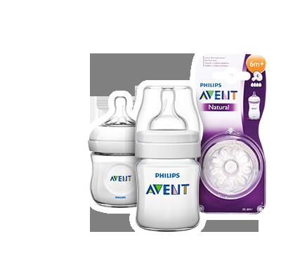 Philips AVENT Аксессуары для ухода за младенцами: бутылочки и соски, в ассортименте