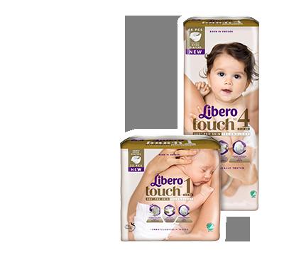 LIBERO Touch Детские подгузники (размер 2 — 64 шт., размер 3 — 50 шт., размер 4 — 46 шт., размер 5 — 42 шт.)